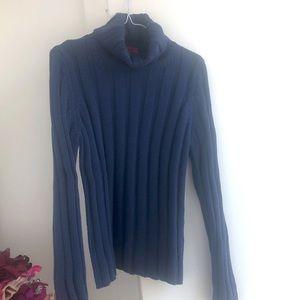 NWOT HUGO Hugo Boss Red Label Blue Ribbed Sweater